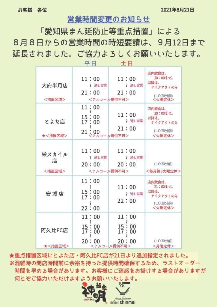 8/20~変更
